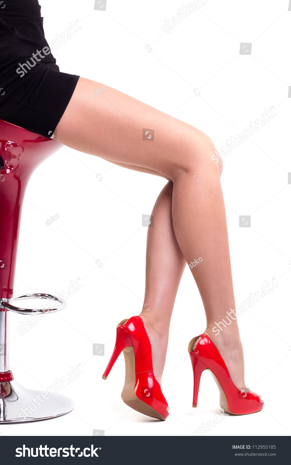 Stock Video Clip of Slow motion sexy legs in high heels
