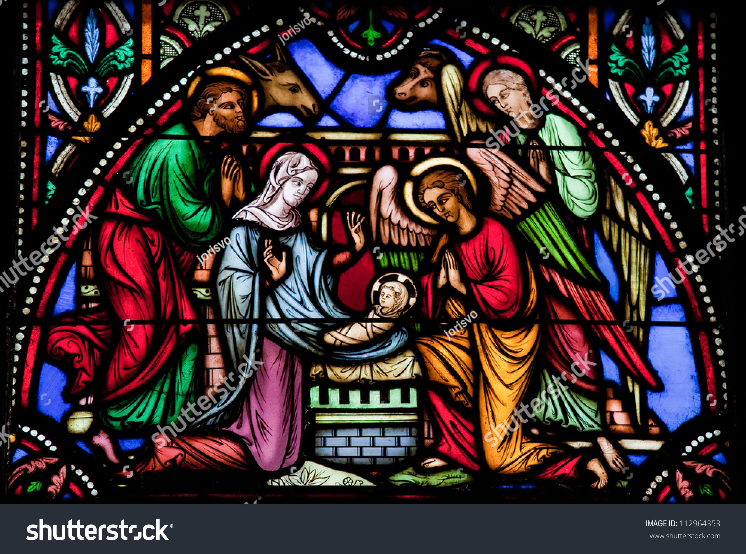 Nativity scene on christmas in the cathedral of 112964353 jpg