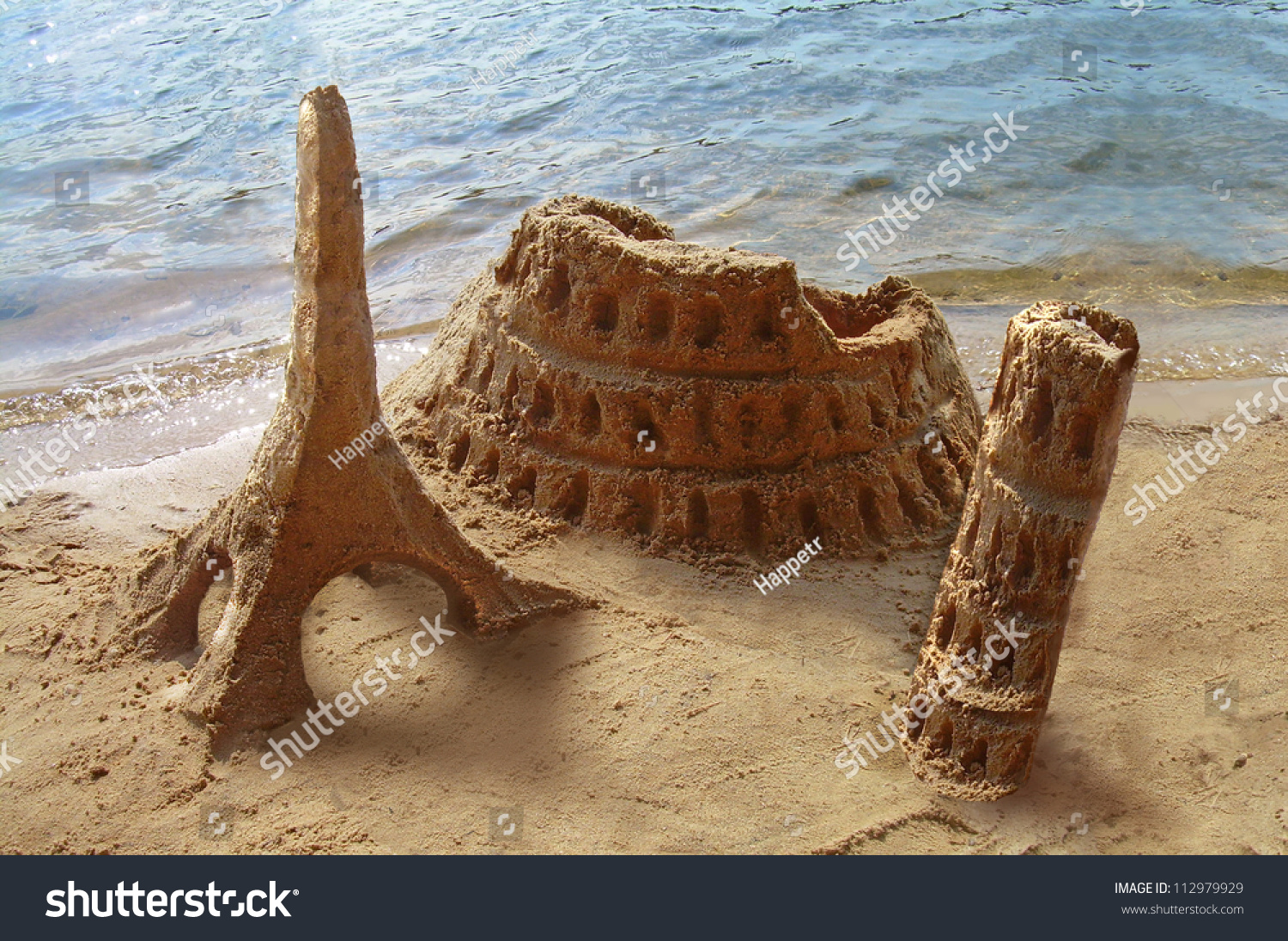 Travel around world famous landmarks made stock photo for Special landmarks