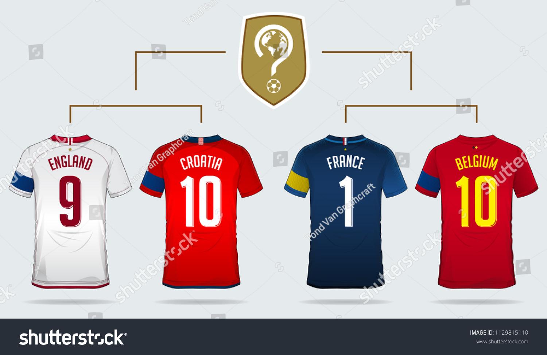 e24a6c4d21b Soccer Jersey Football Kit Template Design Stock Vector (Royalty ...