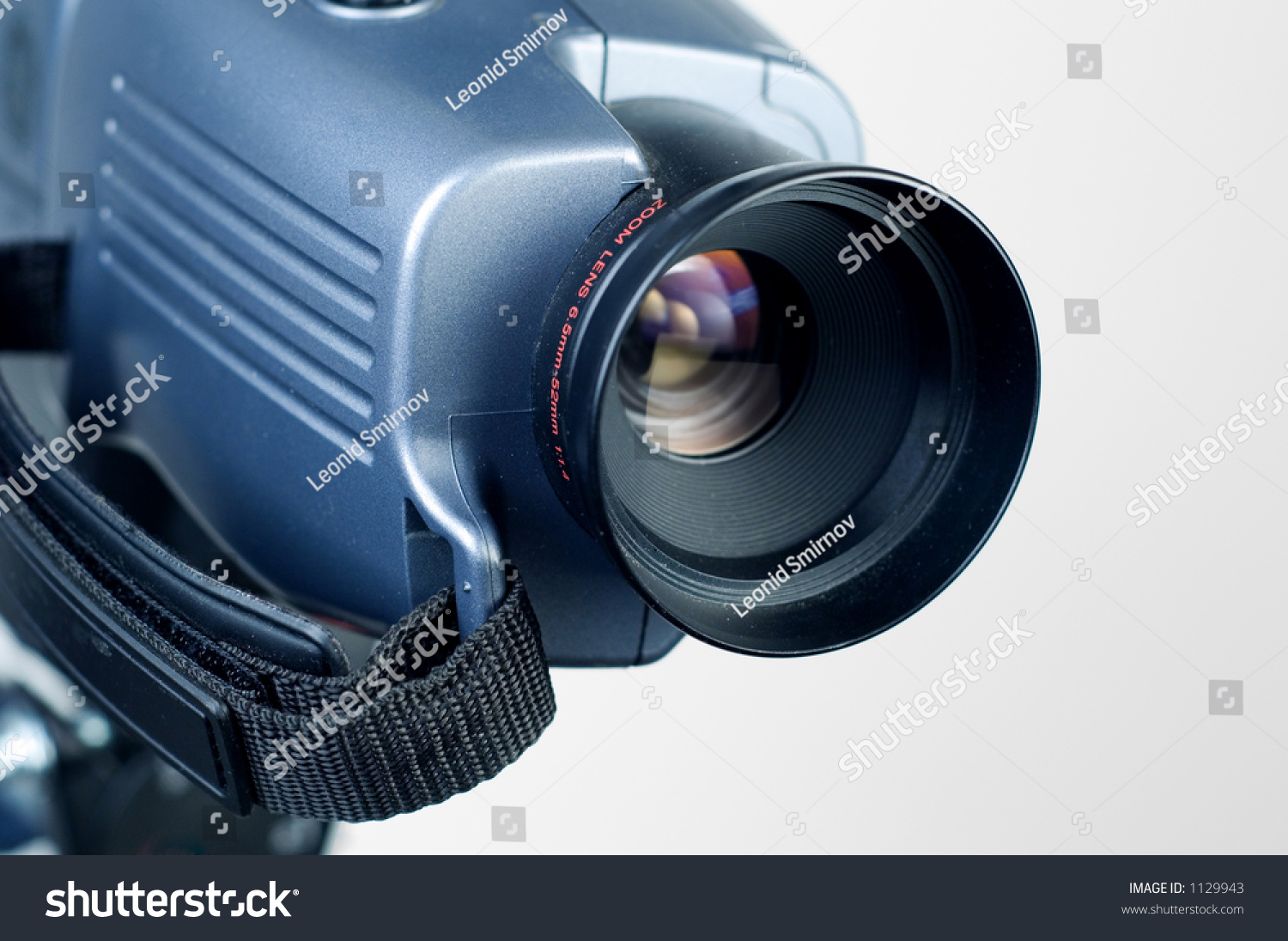 Video Camera Lens Pointing To The Right.1 Stock Photo ...