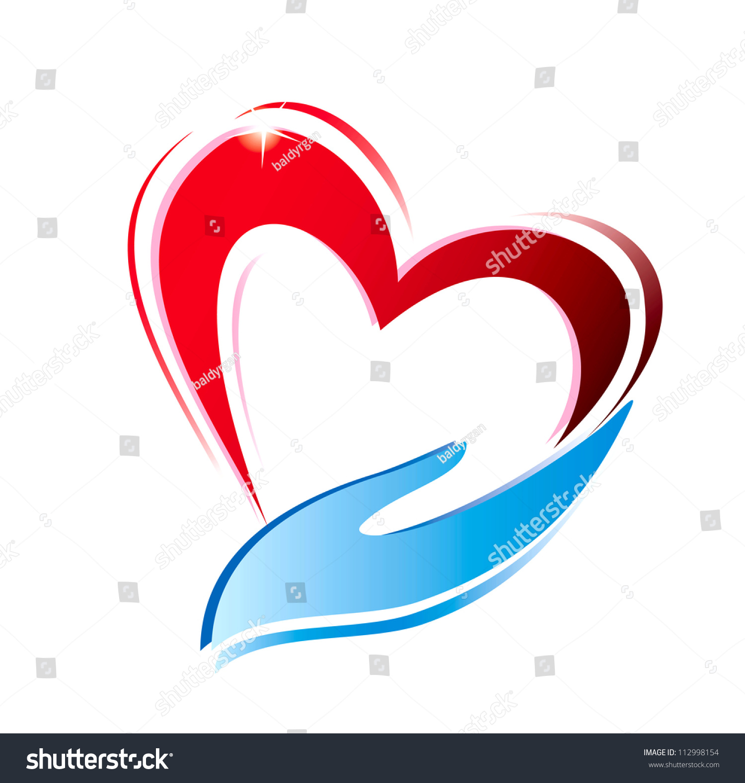 hand holding heart icon isolated vector stock vector