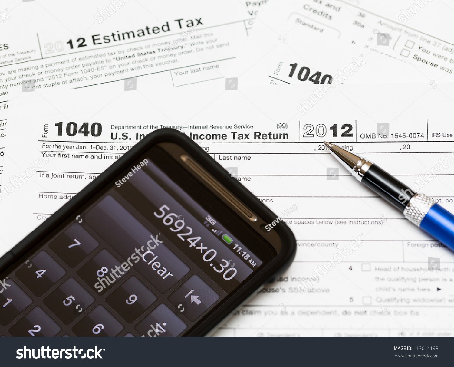 Tax form 1040 for tax year 2012 for us individual tax for 1040 tax table 2012
