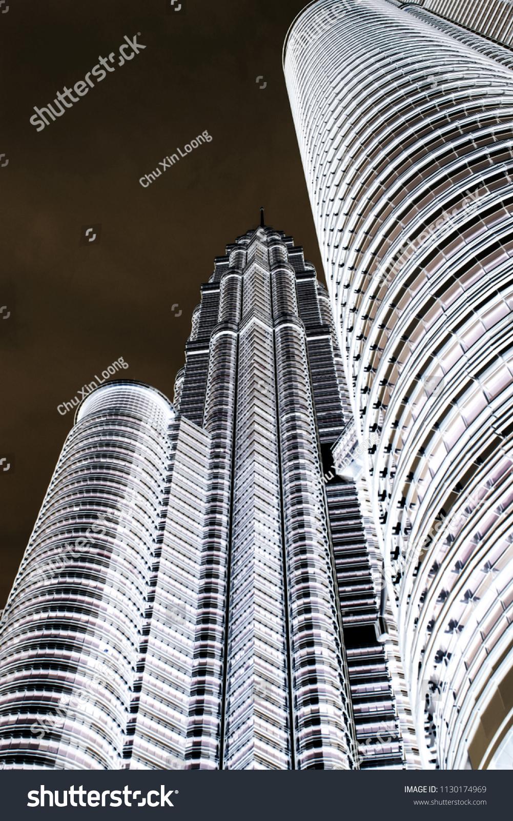 Petronas Twin Tower Kuala Lumpur View Stock Photo Edit Now