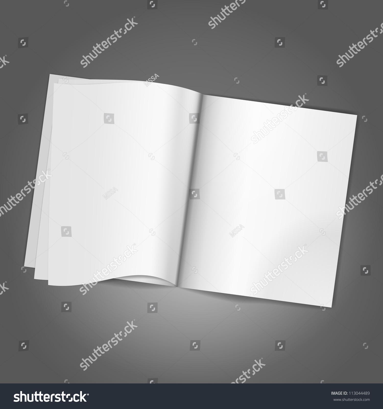 Magazine Blank Page Background Template Illustration Stock Photo