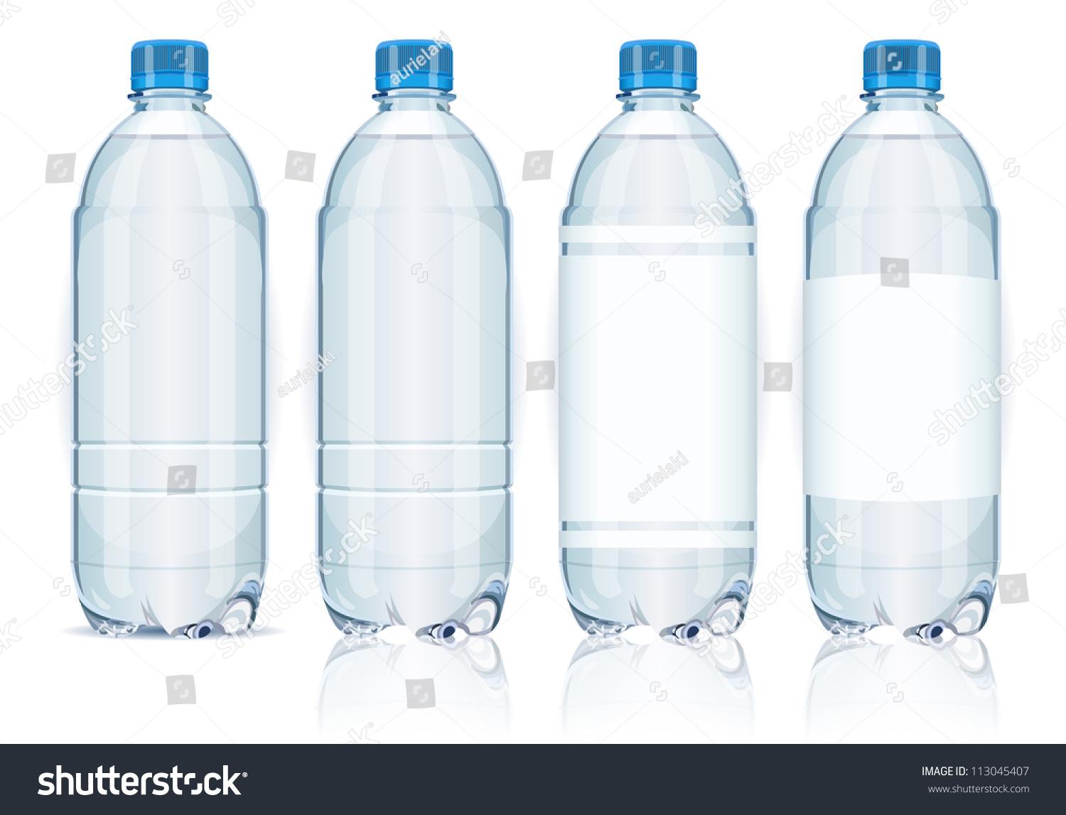 Vector Realistic Plastic Container Mineral Water Stock ...