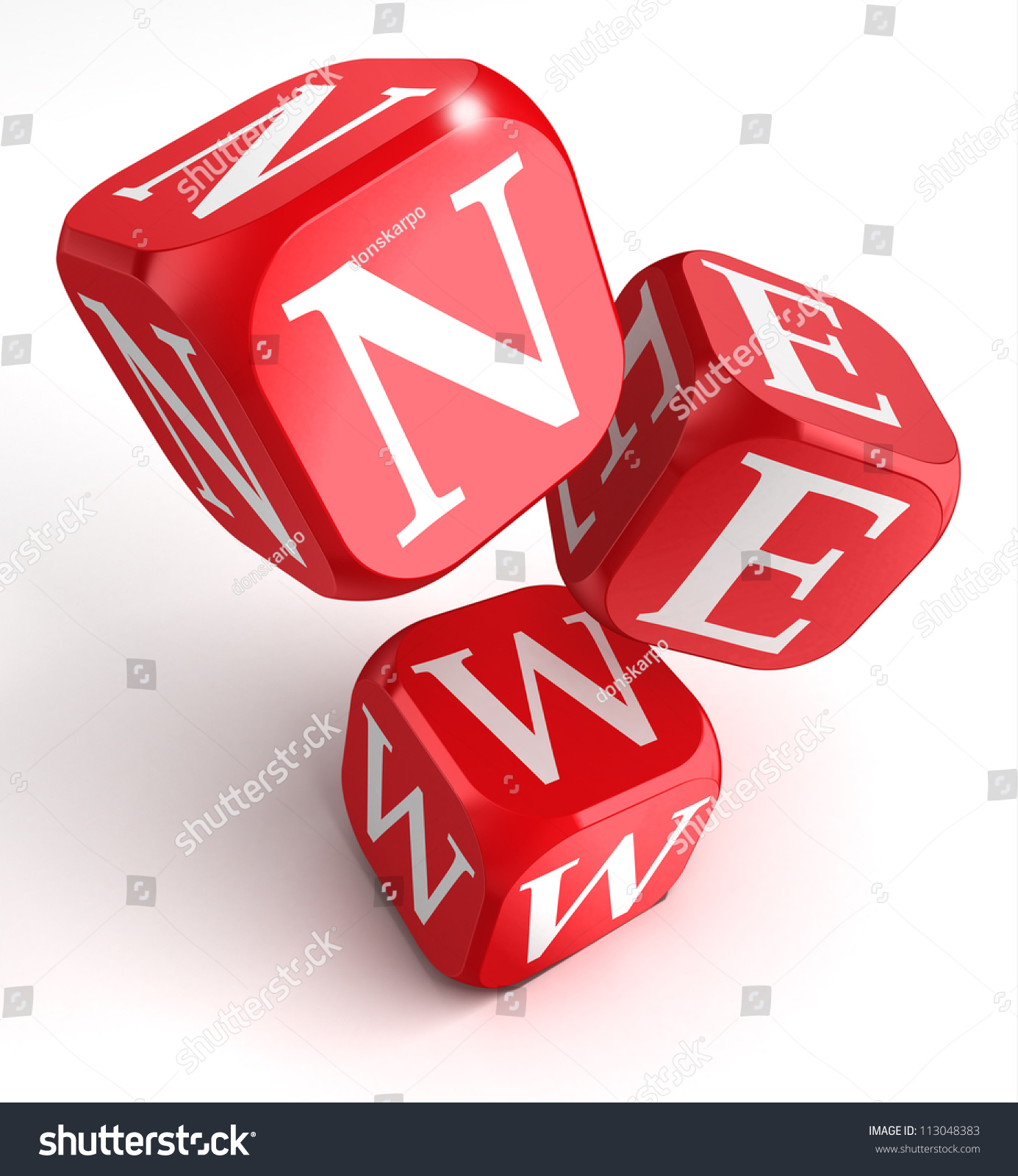 New Word On Red Box Dice Stock Illustration 113048383 - Shutterstock
