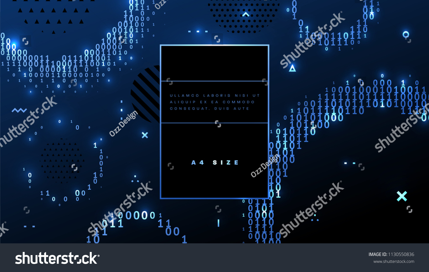 Abstract Binary Code Technology Background Application Stock