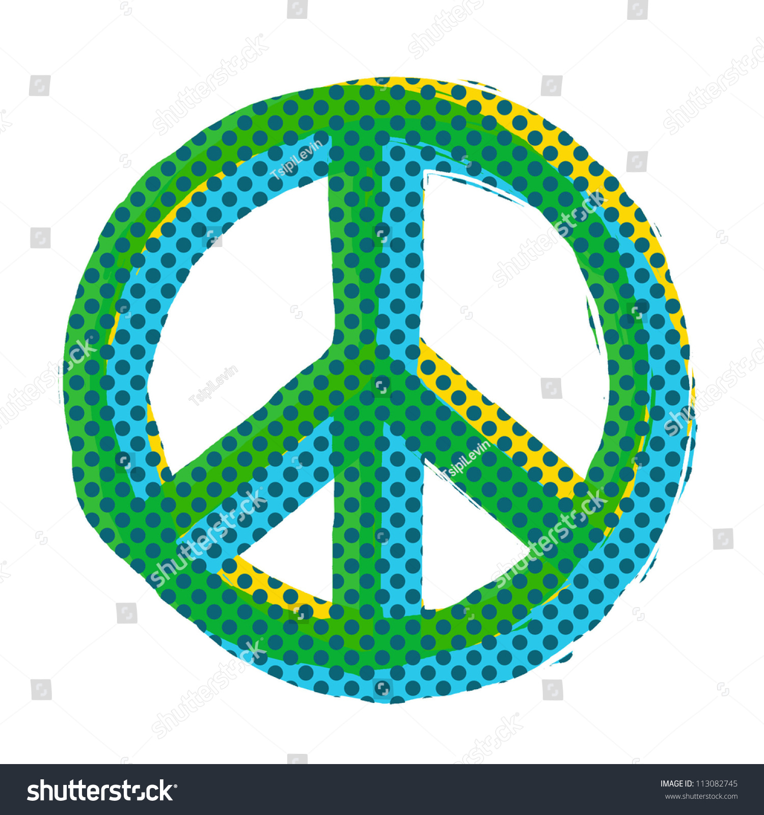 Royalty Free Stock Illustration Of Peace Symbol Pop Art Peace Symbol