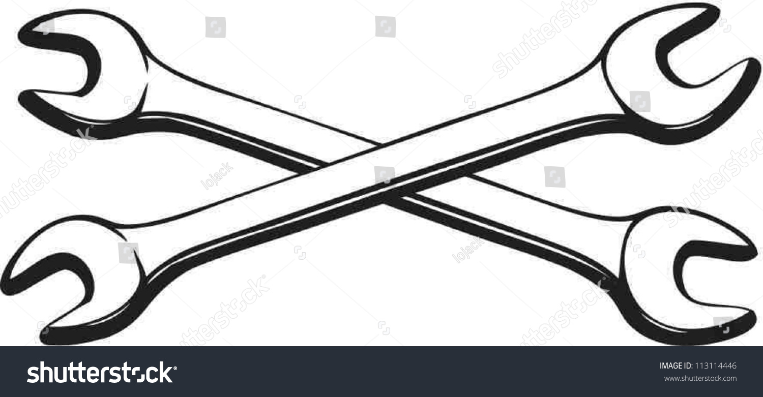 Crossed Wrench Clipart