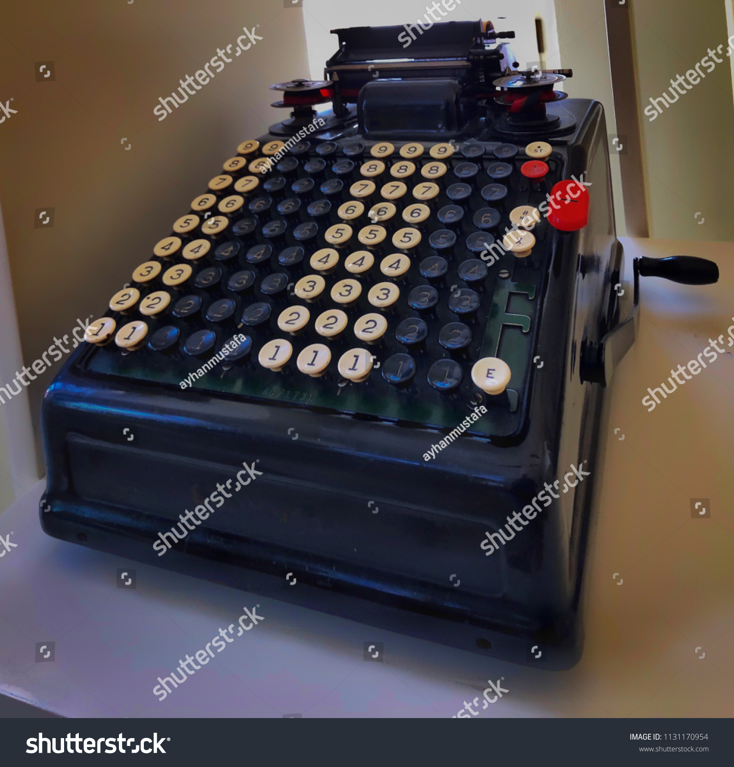 Old School Calculator Numbers Only Stock Photo Edit Now 1131170954 Circuitry Of An Electronic Royalty Free Photography