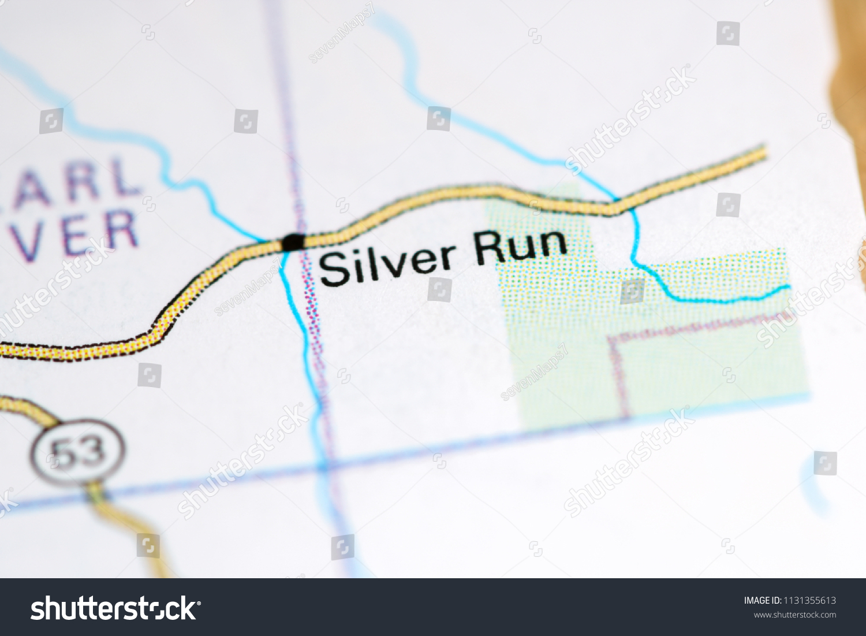 Run Usa Map.Silver Run Louisiana Usa On Map Stock Photo Edit Now 1131355613