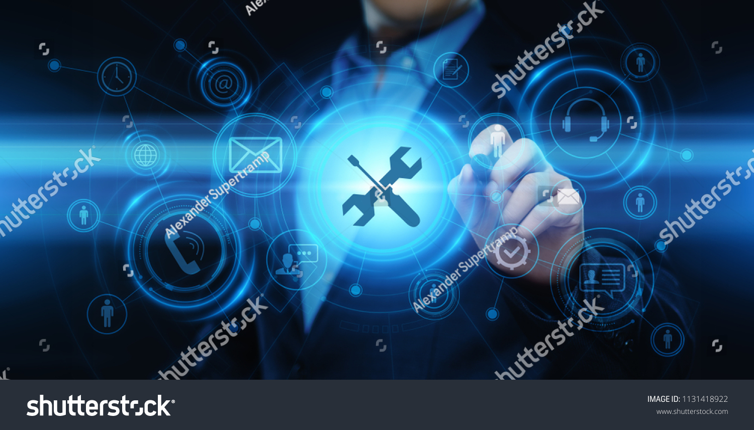 Technical Support Customer Service Business Technology Internet Concept. #1131418922