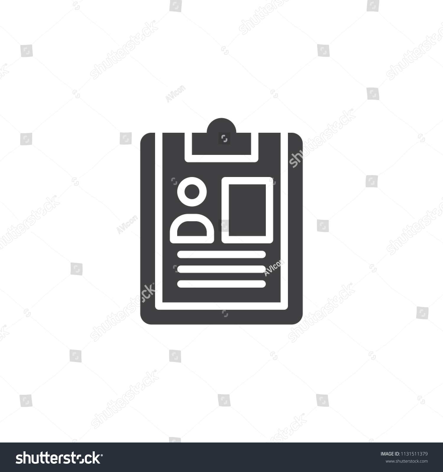 CV Document Vector Icon Filled Flat Stock Vector (Royalty Free ...