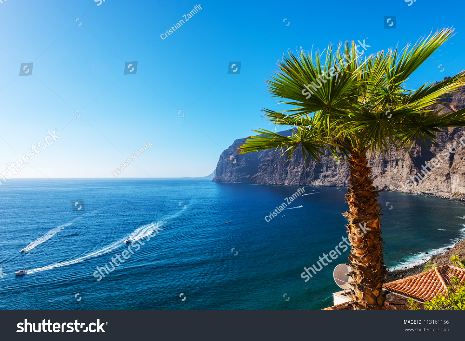 View of Los Gigantes cliffs. Tenerife, Canary Islands, Spain #113161156