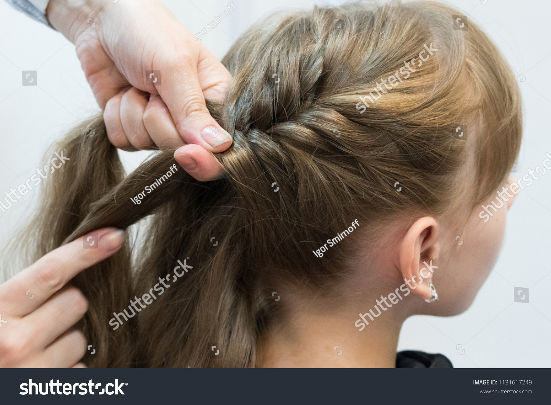 Super Braids Girls Hair Stock Image Download Now Schematic Wiring Diagrams Phreekkolirunnerswayorg