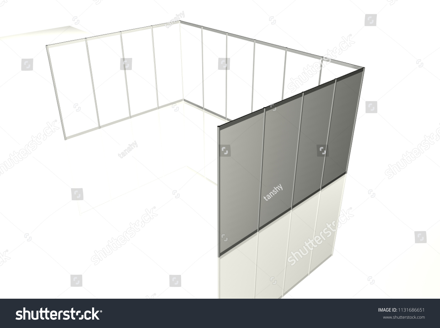 Exhibition Stand Drawing : Trade exhibition stand exhibition round 3 d stock illustration