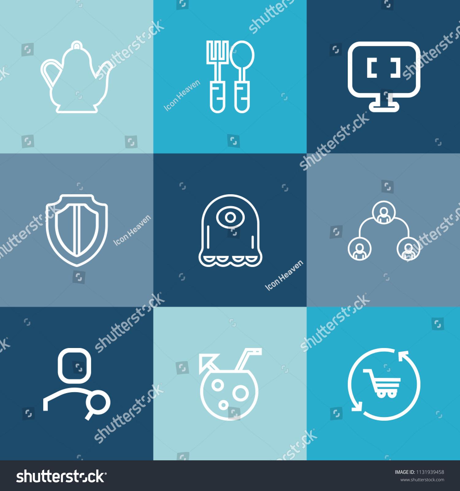 Modern Simple Vector Icon Set On Stock Vector 1131939458 - Shutterstock