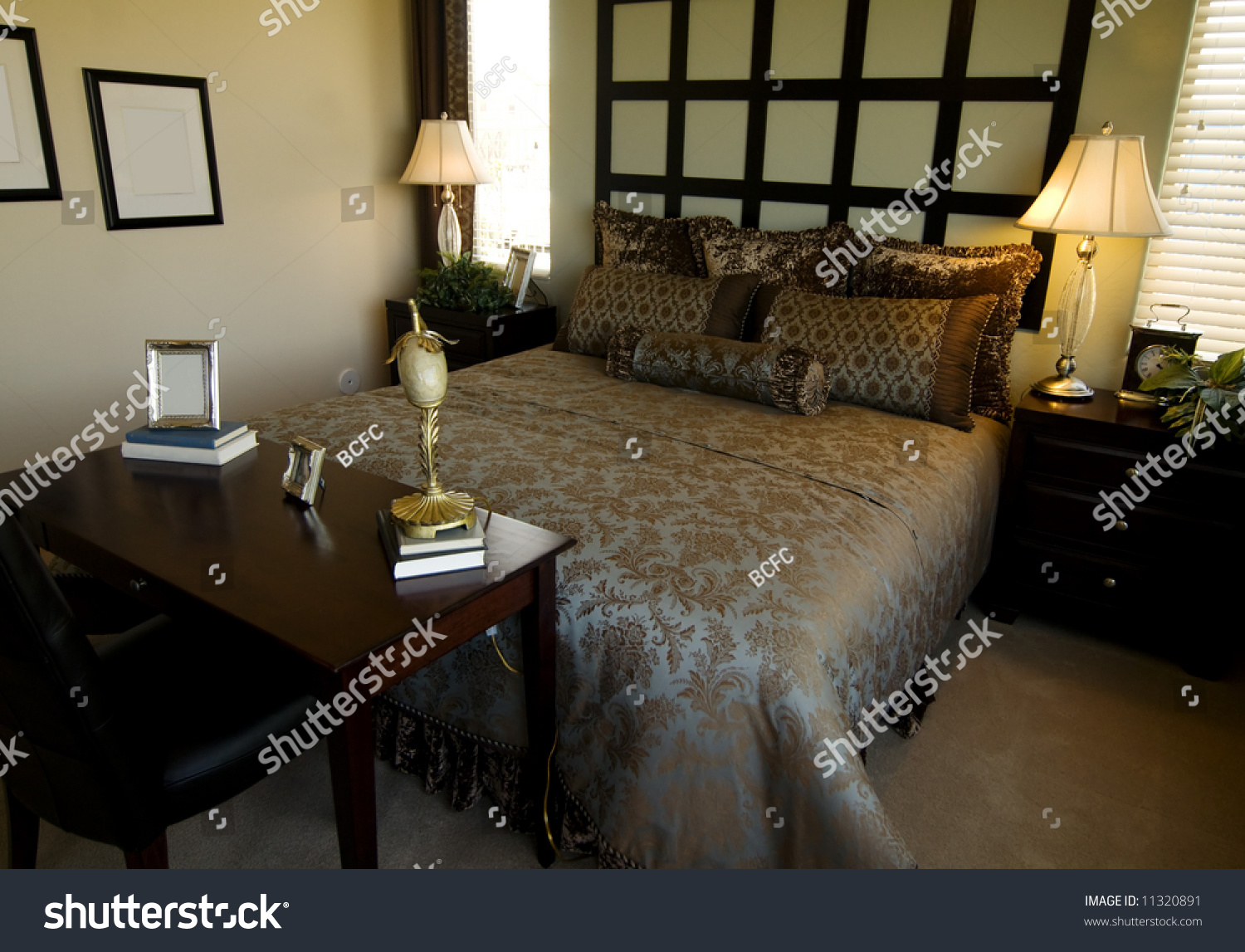 Beautiful showcase bedroom interior stock photo 11320891 for Beautiful bedroom interior