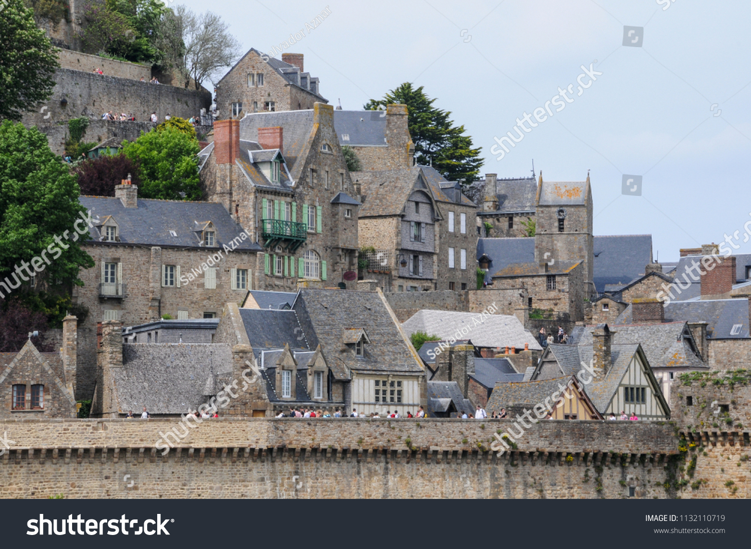 ancient houses interior walled city mont stock photo edit now