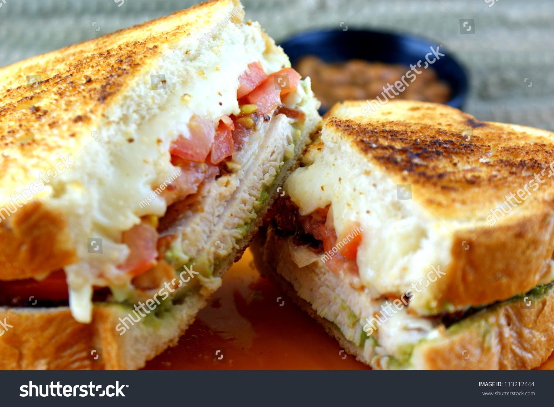 California Chicken Sandwich Grilled Chicken Tomato Stock ...