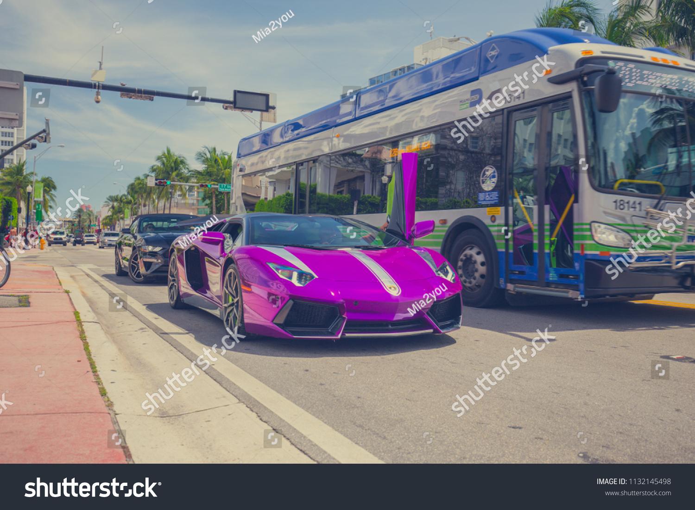 Usa Florida Miami Beach Jule 2018 Stock Photo Edit Now 1132145498