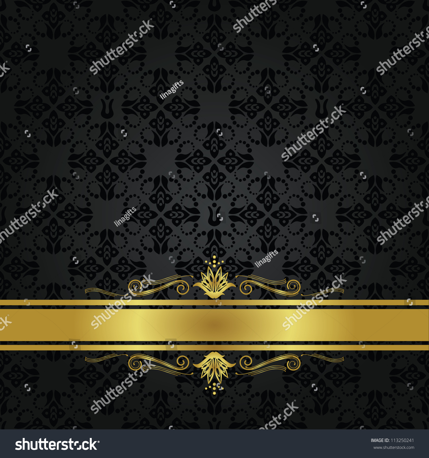 Book Cover Black And Gold : Seamless repetitive small black element pattern stock