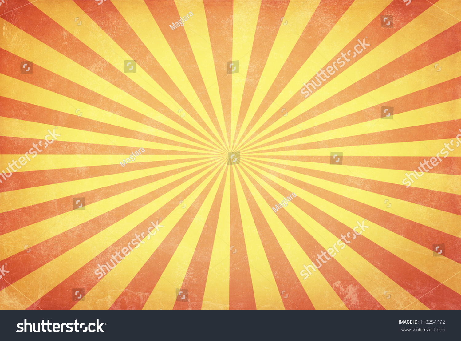 Vintage Background With Sun Burst Stock Photo 113254492 ... Vintage Burst Background