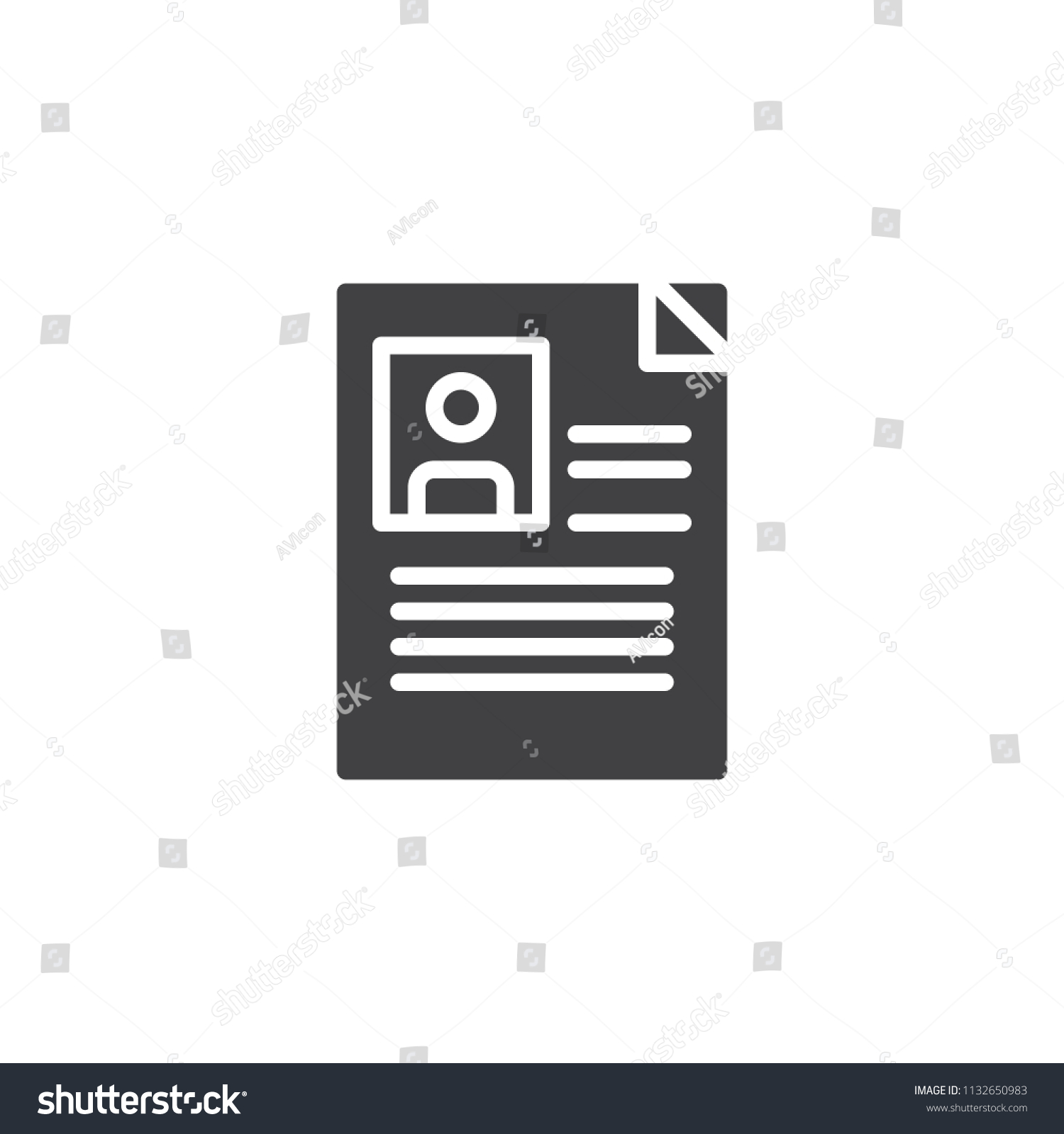 Personal Profile Vector Icon Filled Flat Stock Vector (Royalty Free ...
