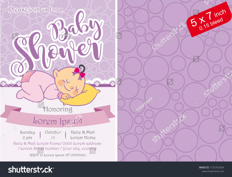 Baby shower girl baby shower invitation stock vector royalty free baby shower girl baby shower invitation template printable baby shower purple baby shower filmwisefo