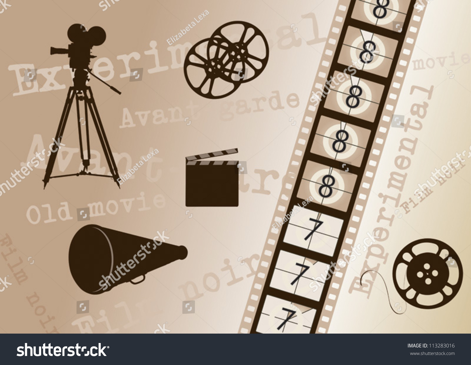 Movie Camera Film Strip movie camera , film strip , director clapper ...