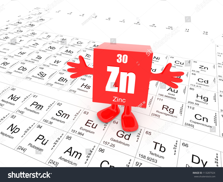 My name zinc this periodic table stock illustration 113287924 my name is zinc and this is the periodic table urtaz Choice Image