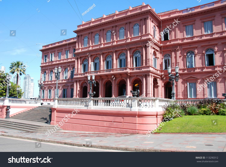 Casa rosada pink house buenos aires stock photo 113290312 for Casa argentina