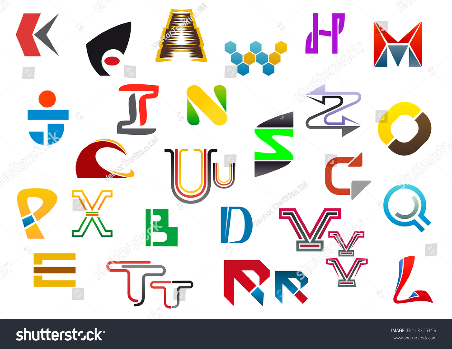 Colorful letter symbols icons z such stock illustration 113305159 colorful letter symbols and icons from a to z such a logo template vector spiritdancerdesigns Gallery