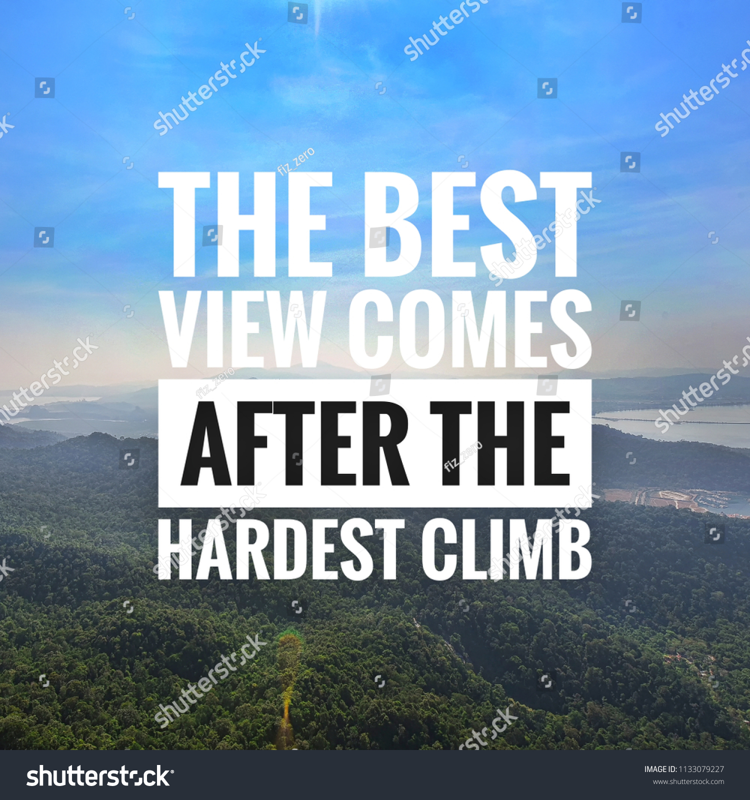 inspirational motivation quotes on blue sky stock photo edit now