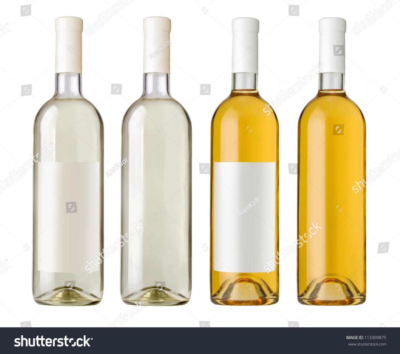 White Wine Bottle Clear Glass Bottle Stock Photo 113309875 ...