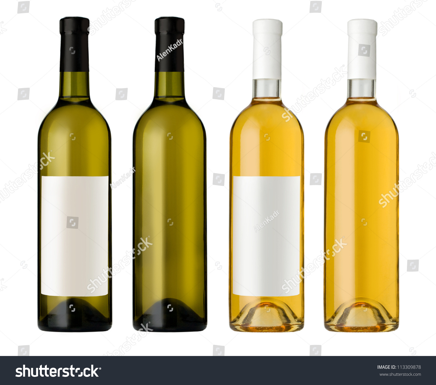 White Wine Bottle Clear Glass Bottle Stock Photo 113309878 ...