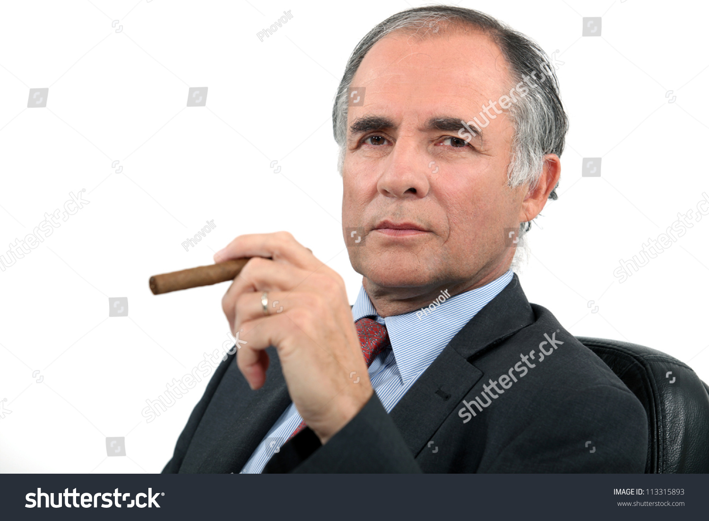 Businessman Smoking Cigar Stock Photo 113315893 : Shutterstock