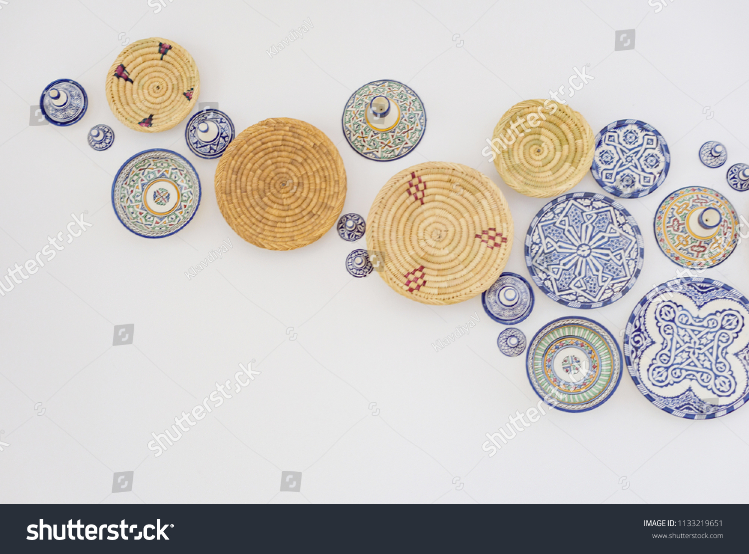 Traditional Moroccan Plates Wall Decoration Stock Photo Edit Now 1133219651