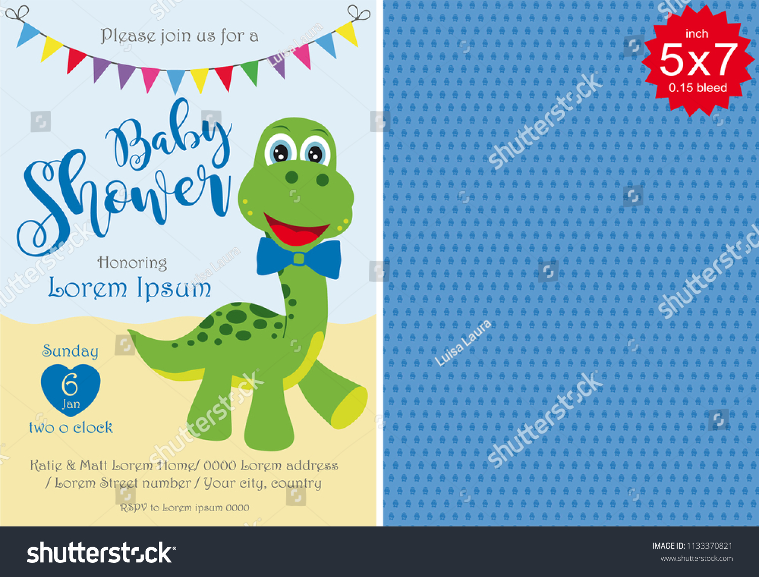 Baby Shower Boy Invitation Template Baby Stock Vector Royalty Free
