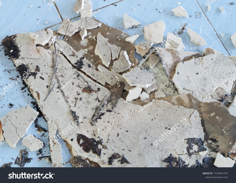 Old Broken Asbestos Floor Tiles Stock Photo Edit Now 1133441474