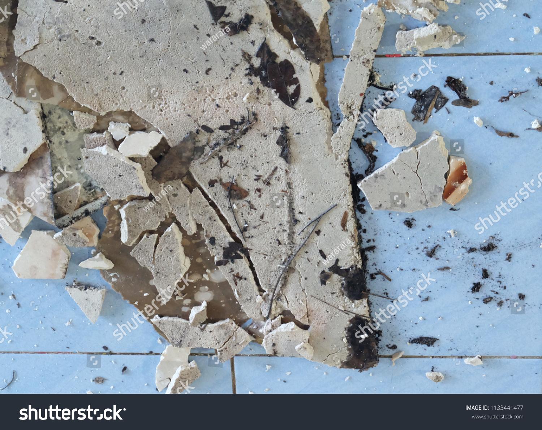 Old Broken Asbestos Floor Tiles Stock Photo Edit Now 1133441477
