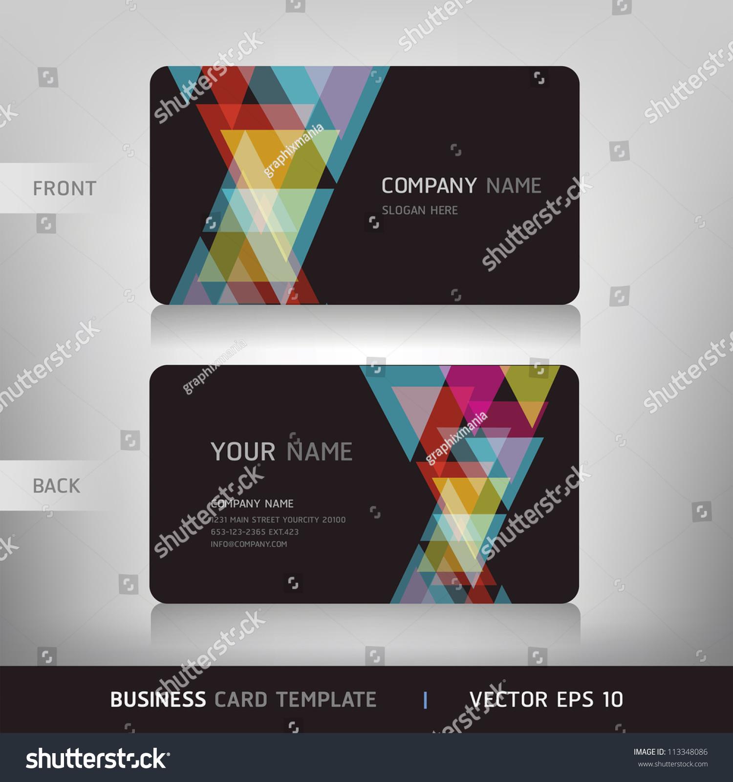 Business Card Set Vector Illustration Eps10