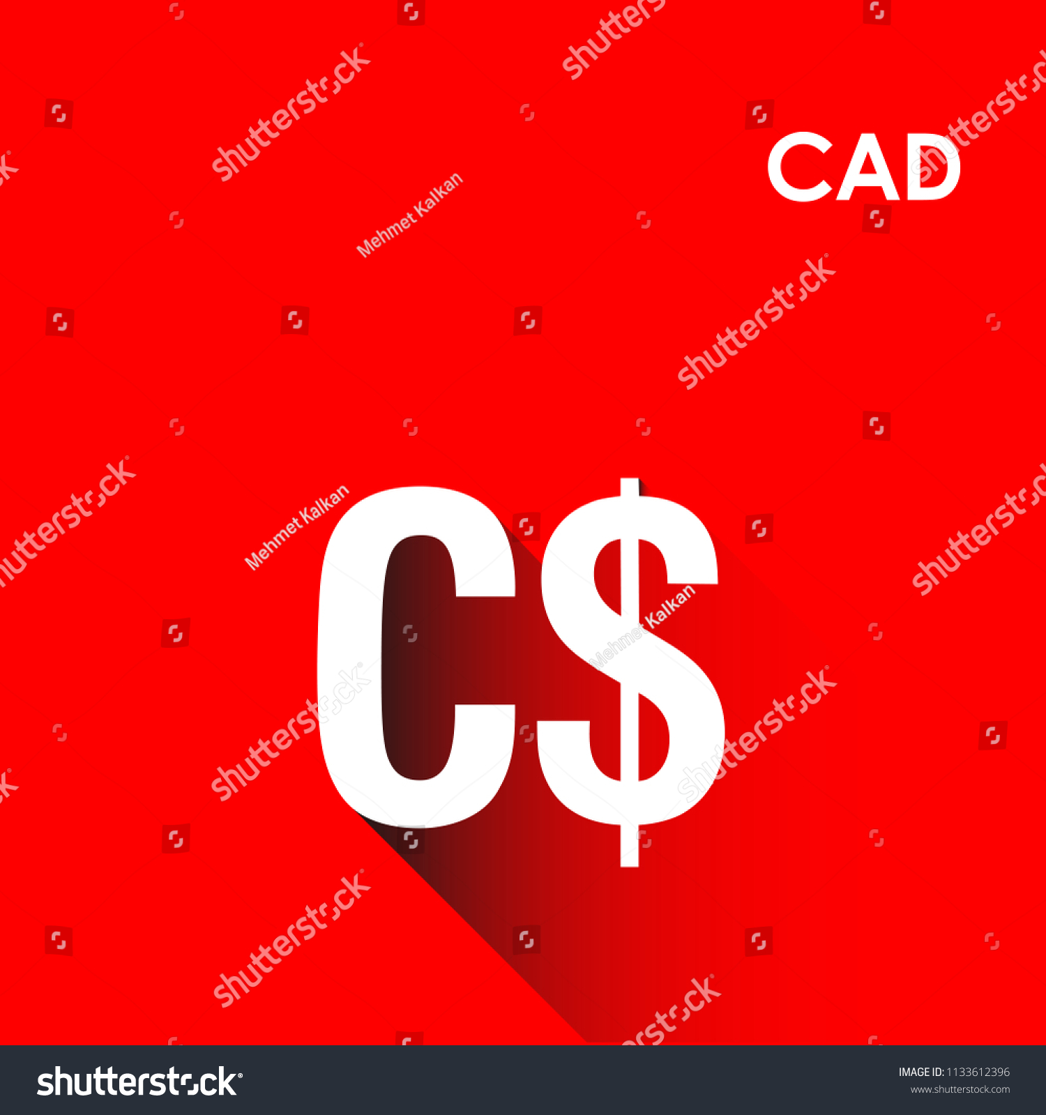 Canada Currency Symbol Turkish Kanada Para Stock Vector 1133612396