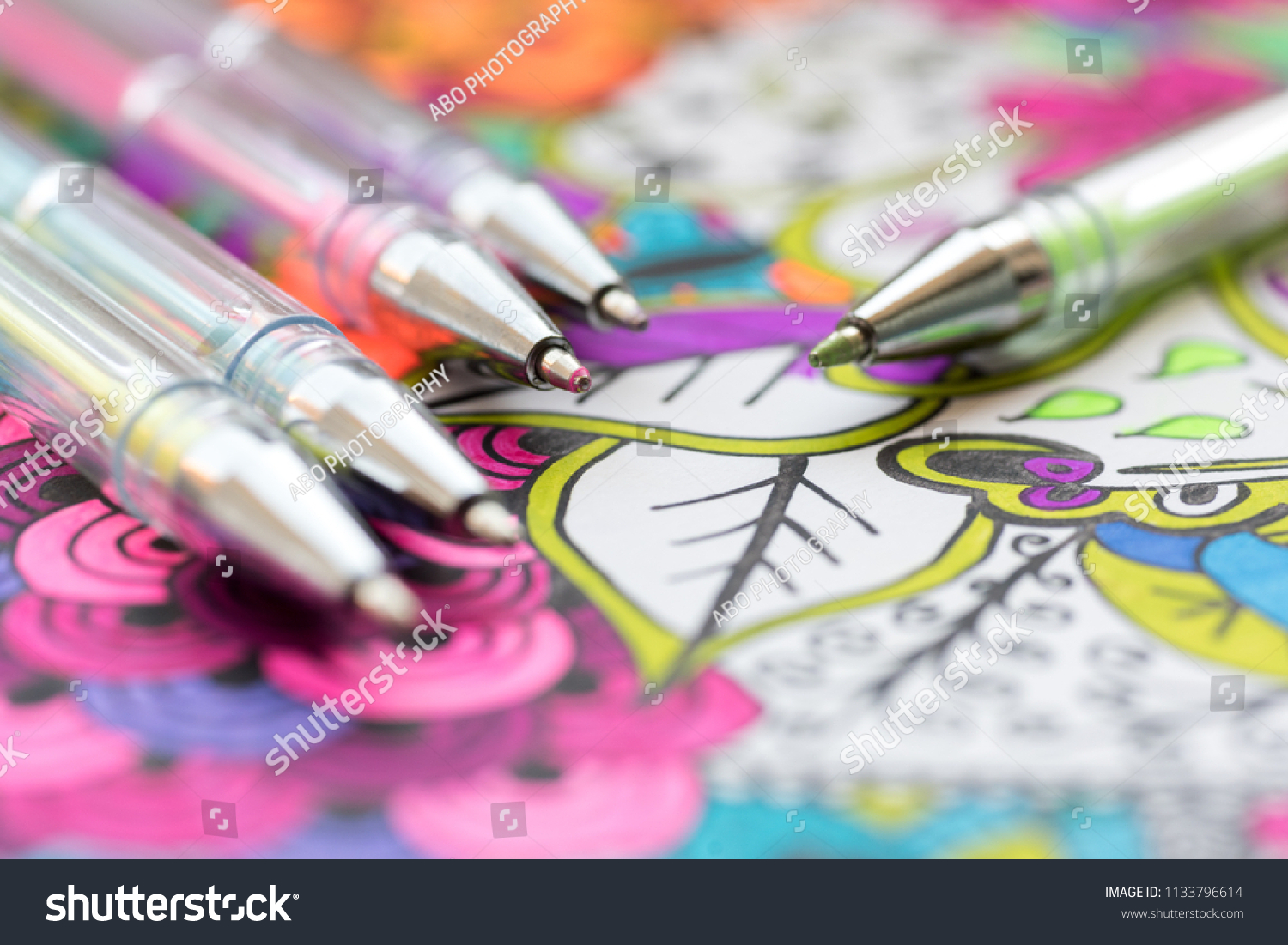 Adult Coloring Book New Stress Relieving Stock Photo Edit Now