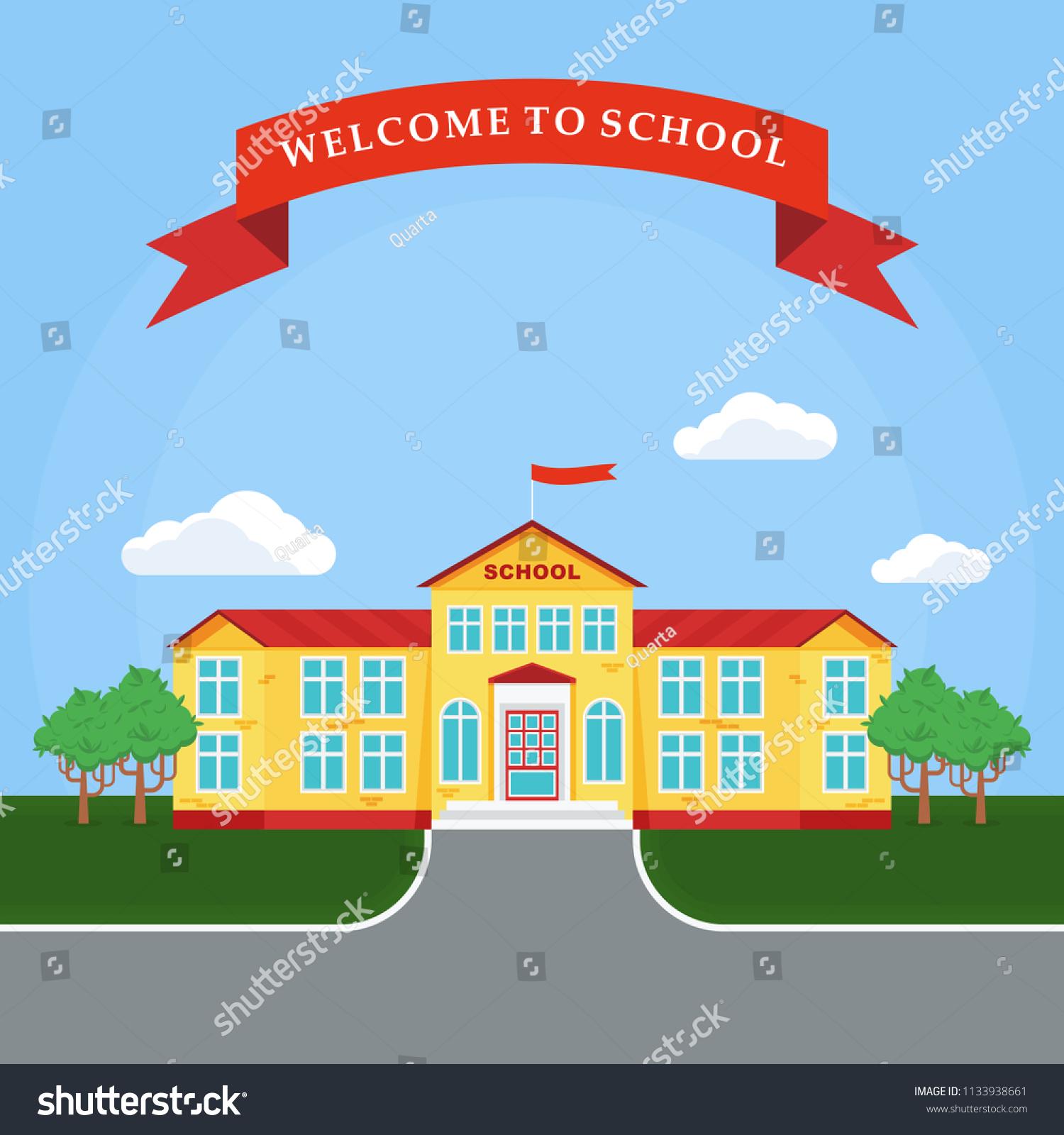 Back School Poster Template Education Conceptfor Stock Illustration ...