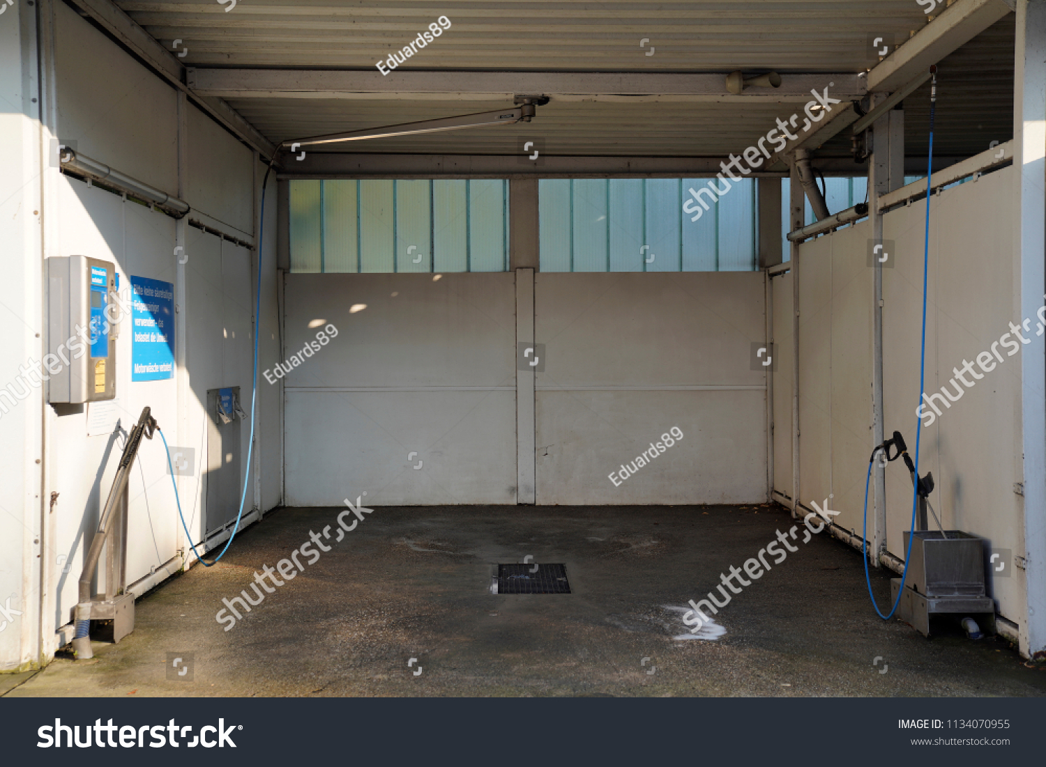 Empty Self Service Car Washing Booth Stock Photo (Edit Now) 1134070955