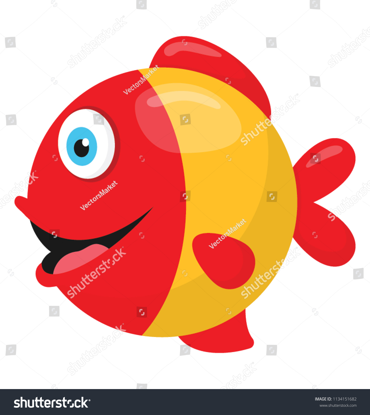 Awesome Colorful Fish Cartoon Frieze - Coloring Page ...