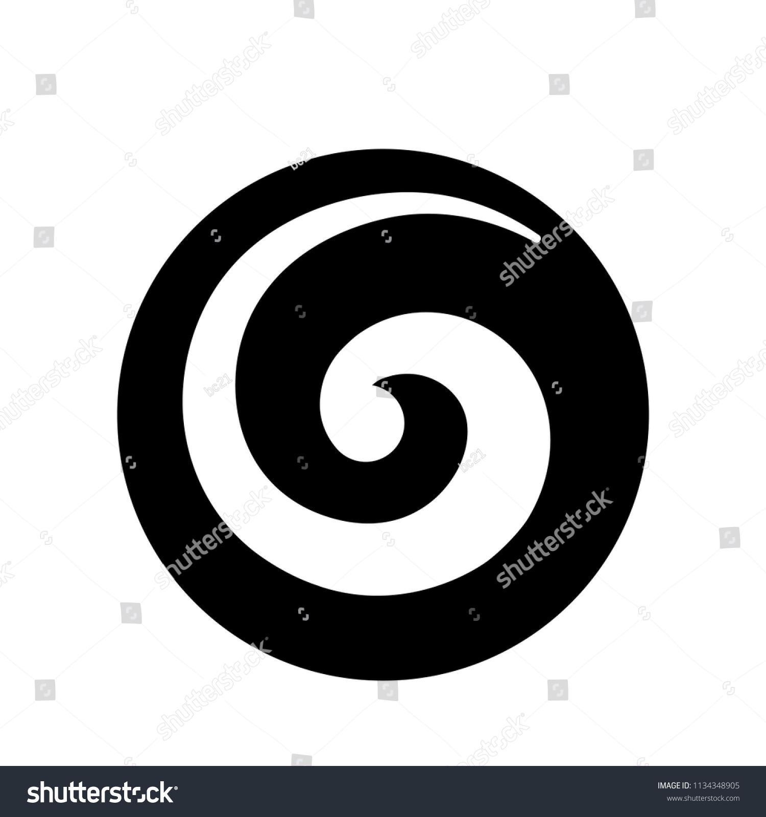 Koru Maori Symbol Spiral Shape Based Stock Vector Royalty Free