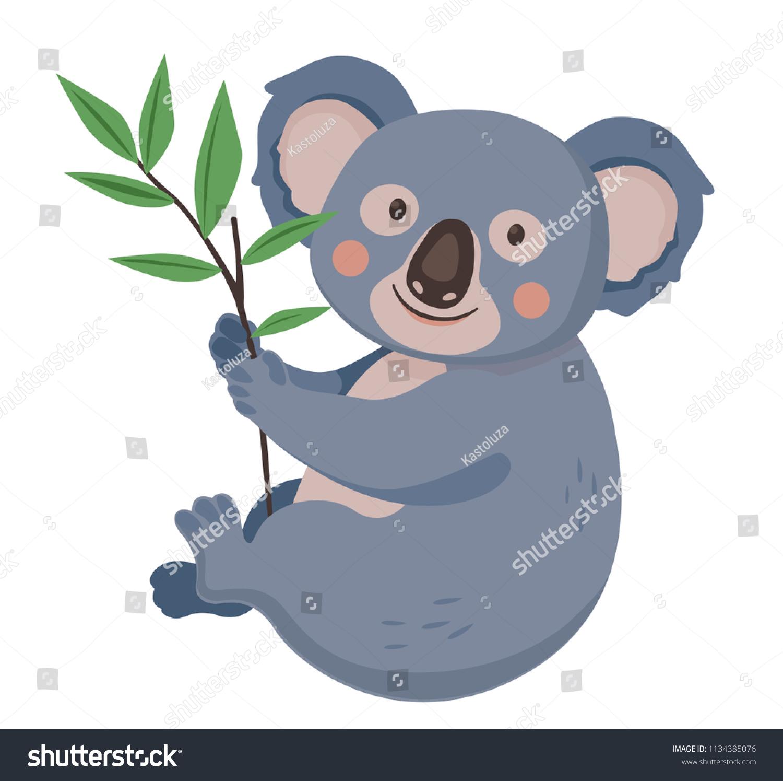 Cute Koala Holding Branch Eucalyptus Tree Stock Vector Royalty Free 1134385076 I fell in love with eucalyptus trees when i was in santa barbara. https www shutterstock com image vector cute koala holding branch eucalyptus tree 1134385076